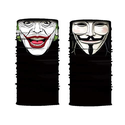 Shuxinmd Atmungsaktives und schnell trocknendes Stirnband Cool Robot Skeleton Halloween Maske Schal Joker Stirnband Sturmhauben für Radfahren Angeln Ski Motorrad für Jungen Mädchen (Size : (Halloween Stirnbänder)