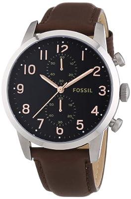 Fossil FS4873 - Reloj de pulsera hombre, piel, color marrón