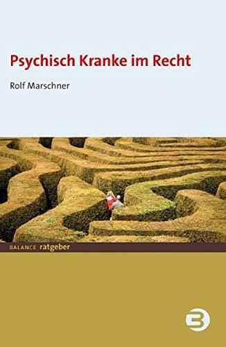 Cover »Psychisch Kranke im Recht«