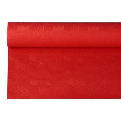 Tischdecke rot mit Damastprägung 8x1,2m