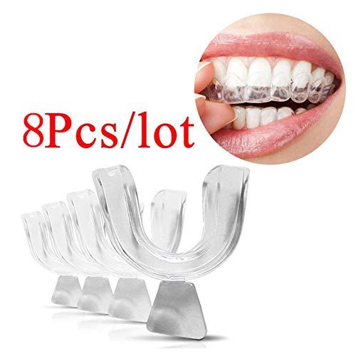 8Pcs Mundschale Transparente Thermoform-verformbare Zahnzahn-Mundzähne, die Nahrungsmittelgrad weiß werden