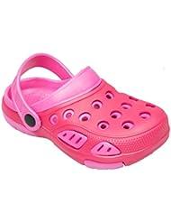 Color Kids 103491 - Kinder EVA Clogs Gartenclogs pink Badeclogs Gr. 24 - 35