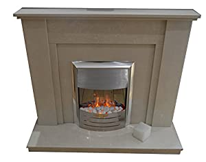 Alberto Fireplace in Canaleter Marble (*Free Local Delivery*) (Canerleter)
