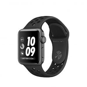 Apple Watch Nike+ OLED GPS (satélite) Reloj Inteligente, Pantalla táctil, GPS (satélite), 18 h, 26,7 g, Nike Sport Banda Color Negro/Antracita y Carcasa de Aluminio Color Gris (Space Grey)
