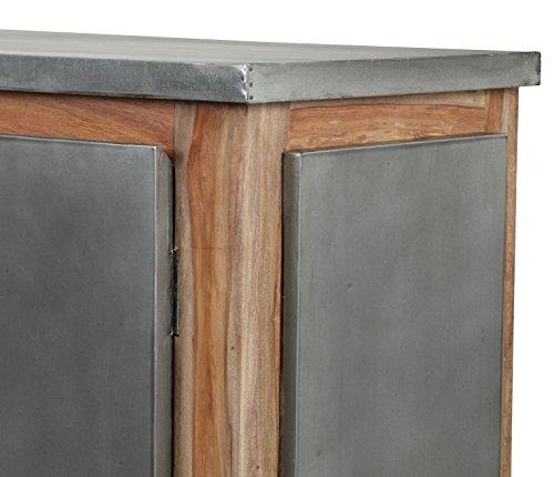 The Wood Times Sideboard Vintage Wohnzimmerschrank Massiv Odisha Sheeshamholz, FSC Zertifiziert, BxHxT 175x85x45 cm - 4