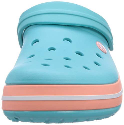 crocs Unisex-Erwachsene Crocband Clogs Blau (Pool/Melon)