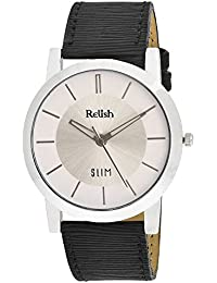 RELISH RE-S8025SW SLIM Black Dial Analog Watch For Mens & Boys