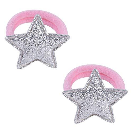 2 pz/lotto cinque stelle principessa copricapo bambino copricapo per bambini corde per capelli ragazze accessori per capelli fasce per capelli elastici per bambini 933,933-5-2 pezzi
