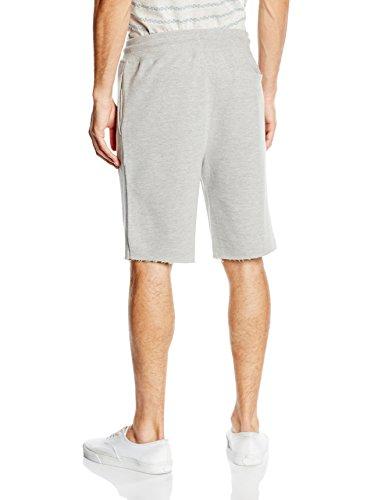 New Look Basic Pique, Shorts Uomo Grey (Mid Grey)