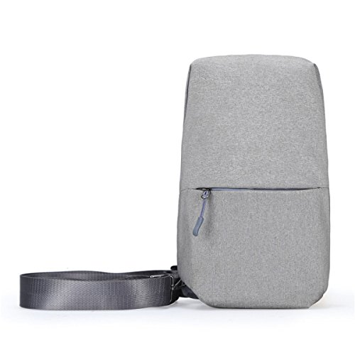 BULAGE Pack Brustbeutel Multifunktions M-Paket Urban Mode Freizeit Männer Diagonal Draußen Oxford Tuch Atmosphäre LightGray