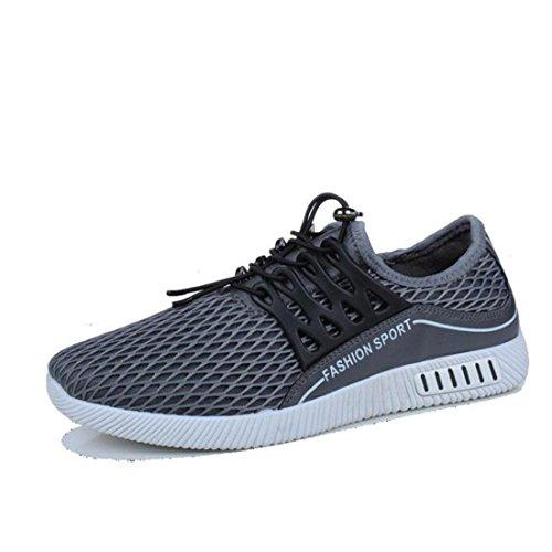 Printemps À La Mode Des Chaussures Respirantes Chaussures Plates Hommes Espadrilles Hommes Casual Chaussures Gris