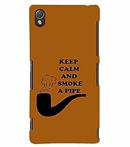 PrintVisa Cool Boy Pipe Smoke 3D Hard Polycarbonate Designer Back Case Cover for Sony Xperia Z3