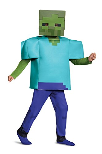 Minecraft Kostüm Enderman - Minecraft 67684K Zombie Kostüm Deluxe M (7-8 J.), blau, 127-136cm