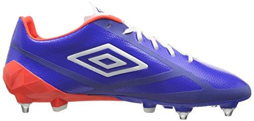 Umbro Velocita 2 Pro Sg, Chaussures de Football homme Bleu - Blue (Dazzling Blue/White/Fiery Coral)