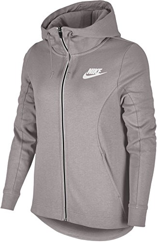 Nike Advance Sweat-Shirt à Capuche Femme, Particle Rose/White, FR : L (Taille Fabricant : L)