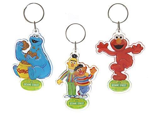 Preisvergleich Produktbild Sesamstrasse SesameStreet Schlüsselanhänger Key Ring Elmo Ernie Bert Krümelmonster