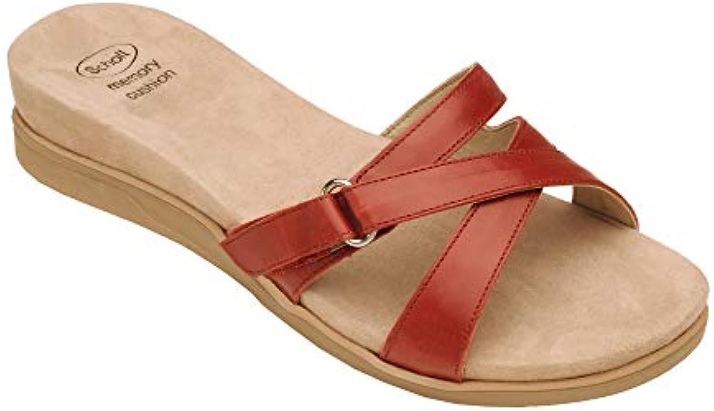 Dr. Scholl's Scholl's Scholl's Nay Pantofola Pelle Donna Coloreee Rosso Misura 36 | Il Nuovo Prodotto  c5c6c8