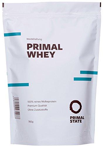 Eiweißpulver neutral   PRIMAL WHEY Proteinpulver   100% reines Molkeprotein aus irischer Weidehaltung   Low Carb Protein zur Erhaltung & Zunahme der Muskelmasse   Geschmacksneutral und ohne Zusatzstoffe   760g