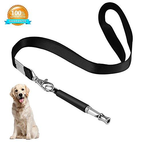 Mew Hundepfeife zu Stop Bellen, Verstellbarer Pitch Ultraschall Training Werkzeug Silent Rinde Kontrolle für Dogs- Pack von 2Pcs Whistles mit 1Gratis Lanyard Band -