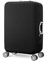 Elástico Funda Protectora de Maleta Cubierta de Equipaje de Viaje Maleta Funda Protectora Luggage Cover, Negro