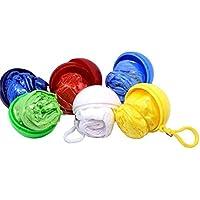 TYY-guang 3pcs Desechables Impermeables De Emergencia Portátil Enganchado Poncho-Bola Hecha Especialmente para Mujeres De Los Hombres Color Al Azar