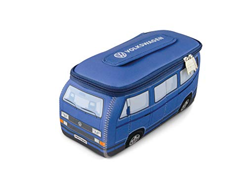 BRISA VW Collection VW T3 Bulli Bus3D Neopren Universaltasche - blau