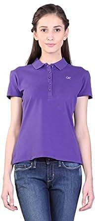Kidley Gold Women's Casual T-Shirt (Women-Tshirt-Purple-XS, Purple, XS)