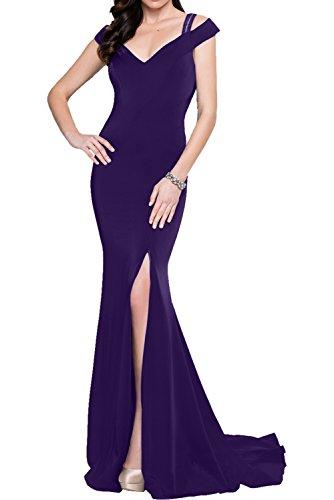 Milano Bride Weinrot Elegant Meerjungfrau Traegerkleider Langes Damen Abendkleider Partykleider Promkleider Neu Dunkel Lila