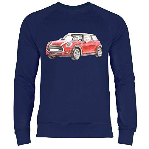 Royal Shirt Herren Sweatshirt Kleines rotes Auto für Autoliebhaber, Größe:M, Farbe:Deep Navy