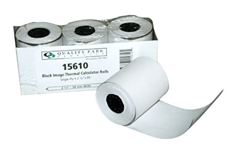 Single-Ply Thermal Calculator Rolls, 2-1/4 x 85 feet, White, 3/Pack, Sold as 1 Package