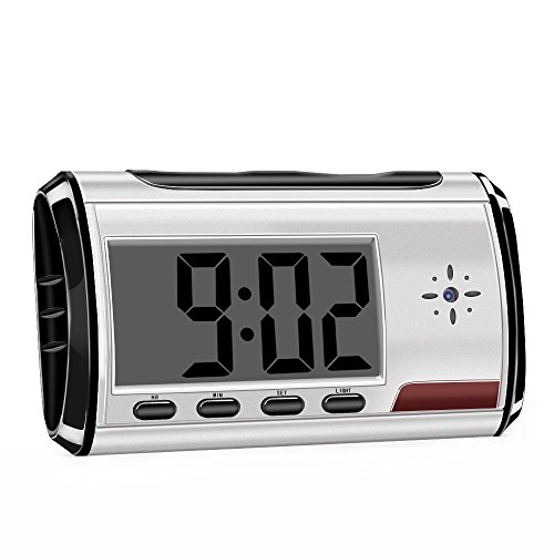 BieBer Spy Camera - Digital Alarm Clock, Hidden DVR Webcam Cam Camcorder Recorder CCTV with REMOTE CONTROL (18m) and MOTION DETECTION  available at amazon for Rs.1500