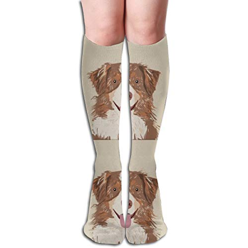 18 Australian Shepherd Dog Breathable Adult Kniestrümpfe Gym Outdoor Socken 50cm 19.7inch - Australian Bootie