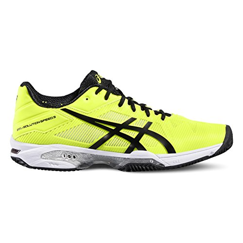 ASICS GEL SOLUTION SPEED 3 CLAY - SAFETY YELLOW / BLACK / WHITE (EU 43,5 - CM 27,5)