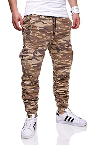 MT Styles Chino-Jogger Camouflage Jeans RJ-1035 Beige