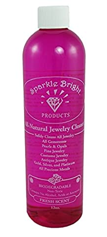 Sparkle Bright All-Natural Liquid Jewelry Cleaner - 12oz. Refill Bottle