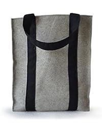 Amore Beaute hecho a mano fieltro bolsa gris fieltro bolsa mercado Tote Bolsas bolsa de la compra housewarming regalos regalos para ella