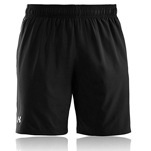 Under armour, ua mirage short 8'', pantaloncino, uomo, nero (black/white 001), l