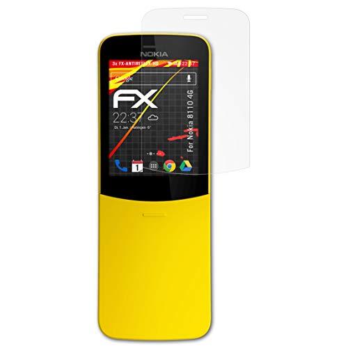 atFolix Schutzfolie kompatibel mit Nokia 8110 4G Bildschirmschutzfolie, HD-Entspiegelung FX Folie (3X)
