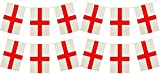 3 x Packs Quality England St George Flag Bunting Decorations Total 36 Foot 33 Flags