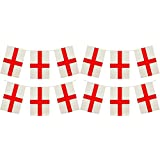 HENBRANDT 24 x England St George Premium Quality Flag Bunting Huge 10m Party Decoration Banner