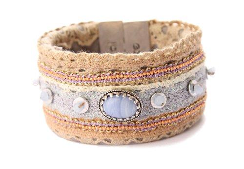 Exoal Armband Handicraft Bunt/Silber