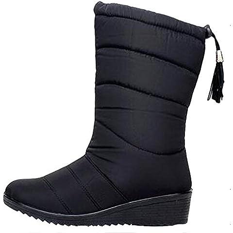 SAGUARO® Donne scarponi da neve invernali piatto pelliccia