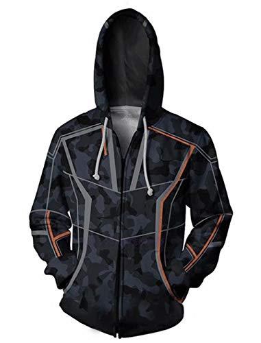 y Stark Kaupzenpullover Infinity War Cosplay 3D Drucken Hoodie Sportbekleidung ()