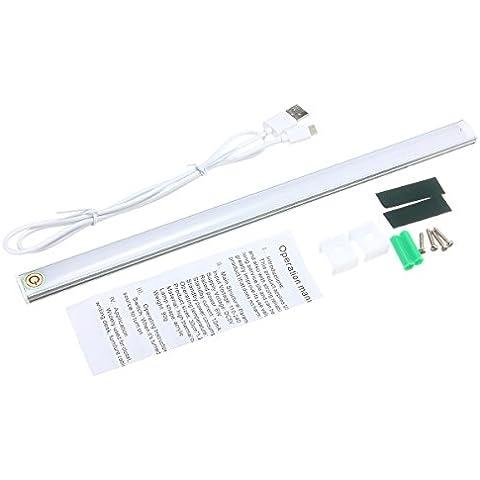 KINGSO luce del Governo della luce del Governo 30 centimetri lampada USB sensibile al tocco sorgente luminosa a LED 6W alluminio + maschera materiale acrilico bianco caldo è bianco Bianco