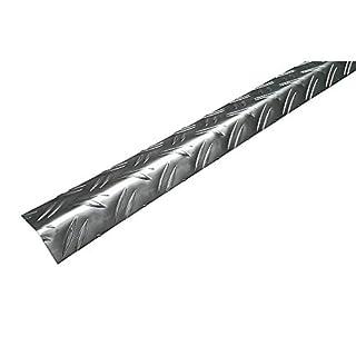 ALFER CHECKERPLATE Aluminium Angle 53.6 X 29.5 X 2500MM 3 Pack