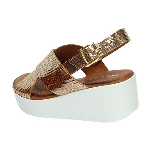 48 Horas ,  Damen Sandalen Gold