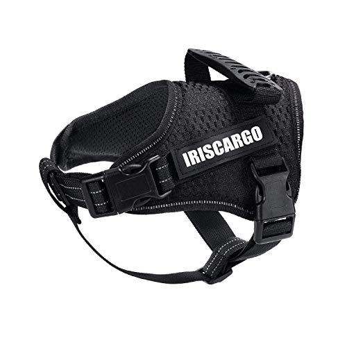 IrisCargo Hundegeschirr einstellbar Powergeschirr Atmungsaktives Haustier Brustgeschirr sicher Kontrolle bequem Hunde Geschirr für Hunde Haustier Hundetraining oder Walking (XL)