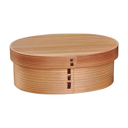 BESTONZON Holz Lunchbox Japanische Bento Box Vesperbox Brotbox Brotdose Snackbox für Büro Schule Picknick Party 3 Gitter