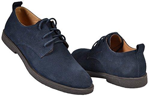 Zapatos de cordones de gamuza para hombre, tela Oxford, de Fangsto, color Multicolor, talla 41