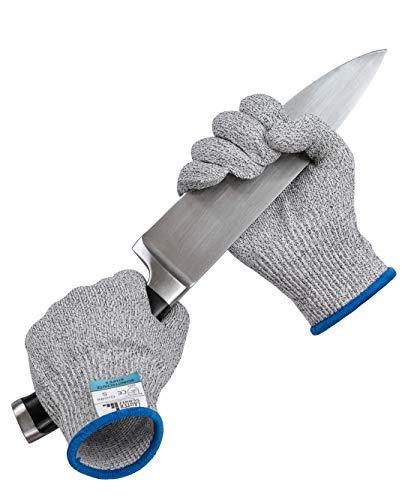 LauterSchutz® Schnittfeste Premium Handschuhe aus Kreuzfaser-PE-Stoff - Level 5 SCHNITTSCHUTZ [Deutscher Hersteller] Größe S bis XL (XL)